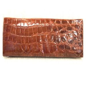 Authentic crocodile clutch purse